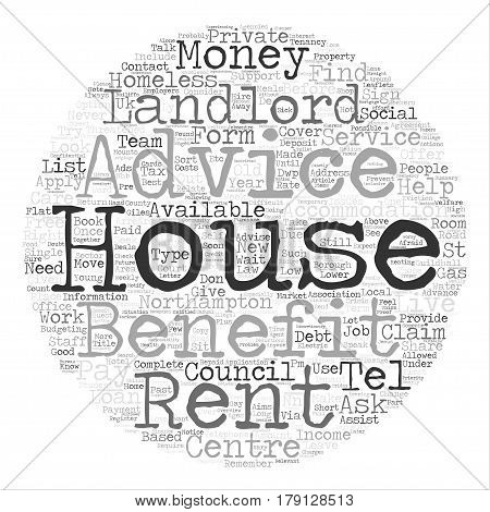 Threatened With Homelessness text background word cloud concept