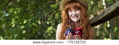 Natural Looking Girl With Small Jars