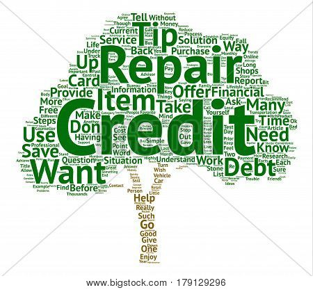 Three Simple Ways To Use My Credit Repair Tips And Save Thousands Word Cloud Concept Text Background
