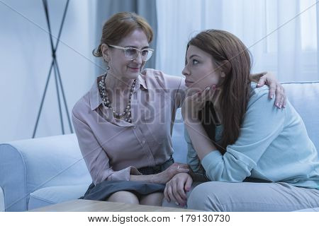 Psychologist Suppporting Her Young Patient