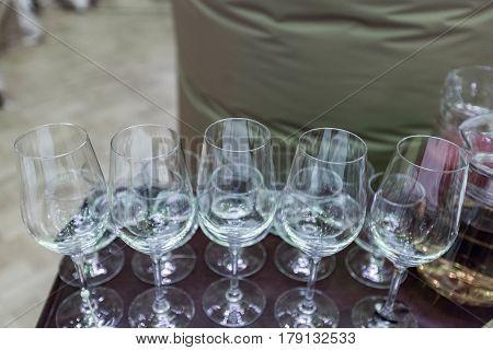 Glass Champagne Stemware