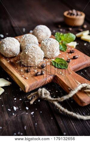 Cappuccino Truffles With White Chocolate