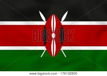 Kenya Waving Flag. Kenya National Flag Background Texture.