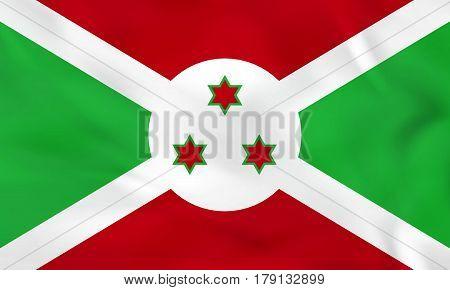 Burundi Waving Flag. Burundi National Flag Background Texture.