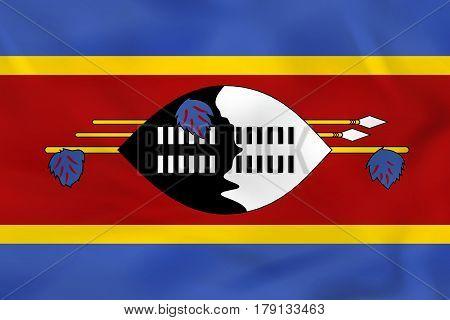 Swaziland Waving Flag. Swaziland National Flag Background Texture.