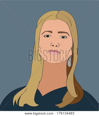 14 Mar 2017: Ivanka Trump Vector Portrait