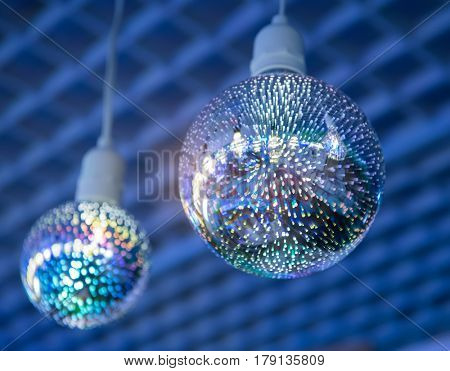 Decorative edison style diode light bulb hang from ceiling