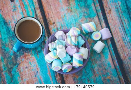 Different Kinds Of Marshmallow On Table