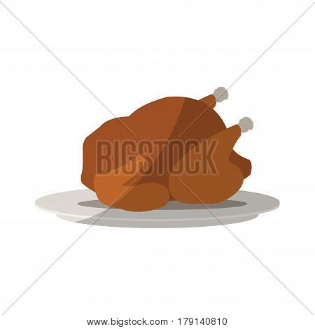 roaster chicken icon over white background. colorful design. vector illustration