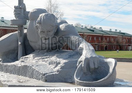 Brest, Belarus - March 25, 2017: Brest Fortress. The memory of the Second World War