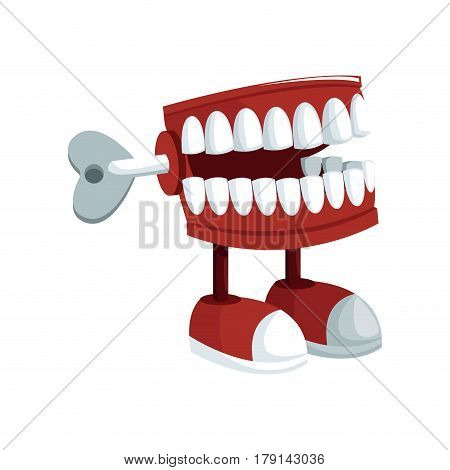 teeth practical joke icon over white background. april fools day concept. colorful design. vector illustration