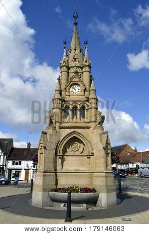 Leamington Spa Warwickshire England - August 18 2014 : Rother Street Clock Tower in Stratford-upon-Avon