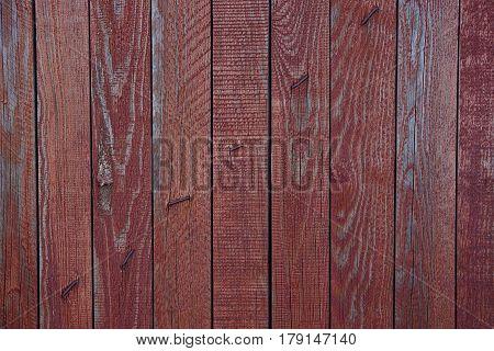 Red wood texture of an old door