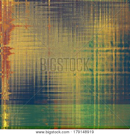 Old background with grunge decorative elements. Retro composition for your design. With different color patterns: yellow (beige); brown; green; gray; red (orange); black