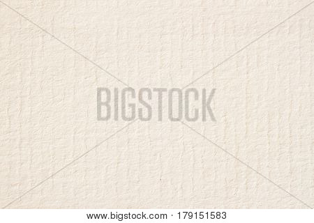 Texture of light cream paper for watercolor and artwork. For modern background, backdrop, substrate, composition use with copy space