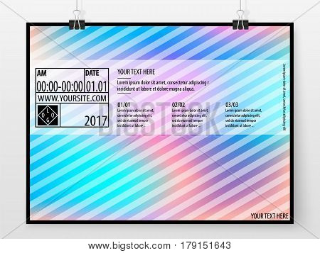 Poster Design Banner Business Concept Horizontal Holographic 2