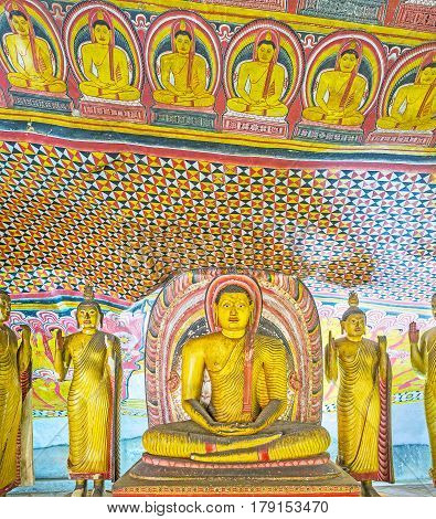 The Patterns Of Dambulla Caves