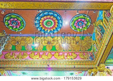 The Ceiling Of Matale Hindu Kovil