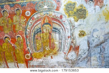The Murals In Cave Of Dambulla