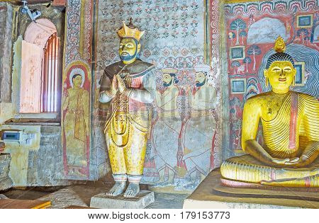 The King's Statue In Dambulla Temple