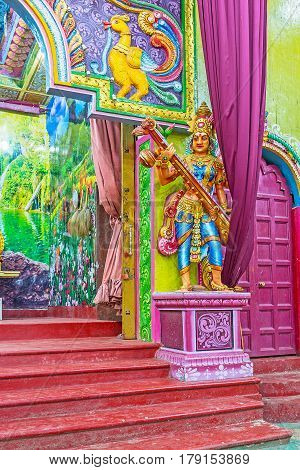 The Statue Of Saraswati In Matale Kovil