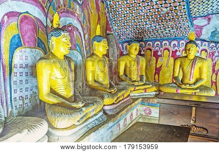 The Patterns Of Dambulla Temples