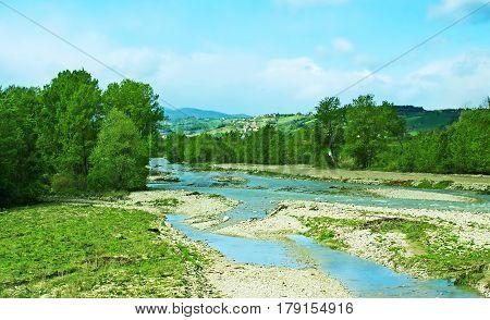 The Fiume Taro River