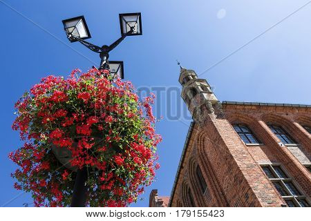 Sights of Poland. Old Town in Torun on The World Heritage List. Torun - place of birth Nicolaus Copernicus.