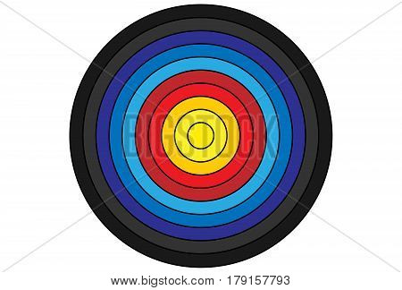 Colorful Target for archery vector gradient on white background