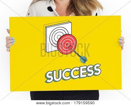 Goal focus aim sucess graphic