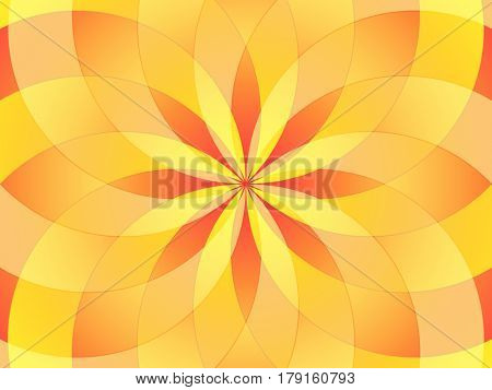 Abstract image in red and yellow colors