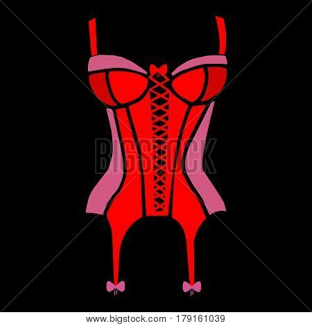 underwear vector corset lingerie lace illustration body