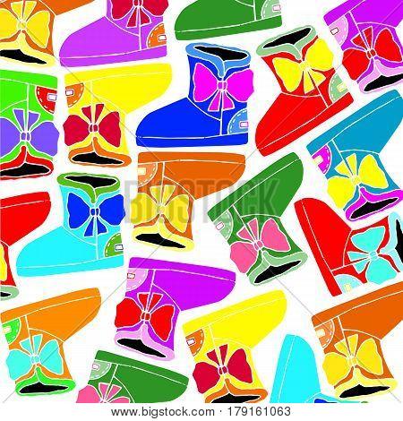 vector shoes fur suede sole color fashion