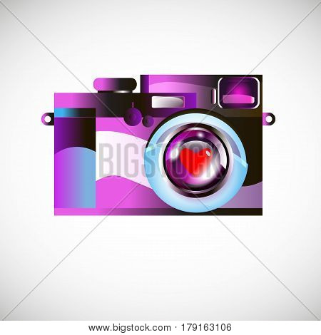 camera vector digital black lens focus photographer
