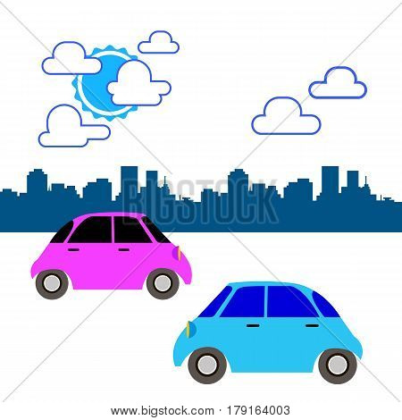 car toy vector automobile auto vehicle icon cartoon illustration wheel transport city cars on the road, the car in city