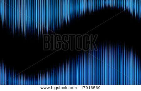 dark blue wavy spikes
