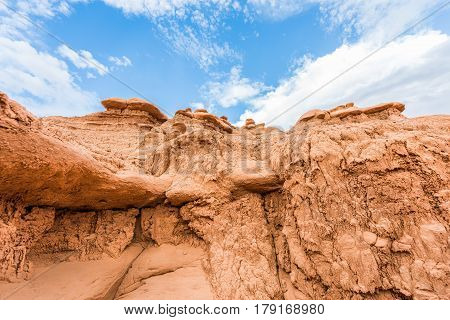 Goblin canyon hoodoos in valley state park