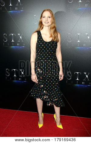 LOS ANGELES - MAR 28:  Jessica Chastain at the STX CinemaCon Photocall at the Caesars Palace on March 28, 2017 in Las Vegas, CA