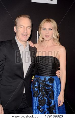 LOS ANGELES - MAR 28:  Bob Odenkirk, Rhea Seehorn at the