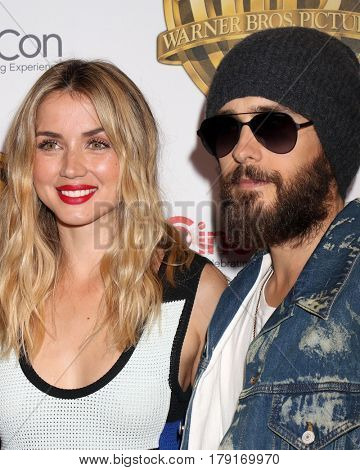 LAS VEGAS - MAR 29:  Ana De Armas, Jared Leto at the Warner Bros CinemaCon Photocall at the Caesars Palace on March 29, 2017 in Las Vegas, NV