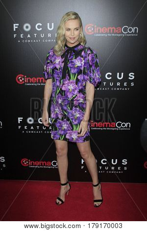 LAS VEGAS - MAR 29:  Charlize Theron at the Focus Features CinemaCon Photocall at the Caesars Palace on March 29, 2017 in Las Vegas, NV