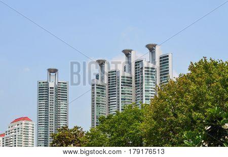 City High-rise Buildings - Urban Landscape