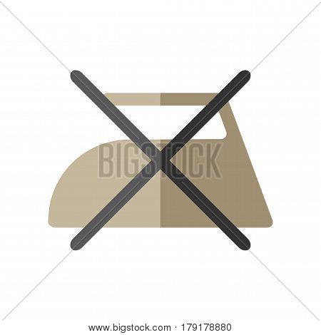 Do not iron, flat icon of washing symbols. Care of clothing.