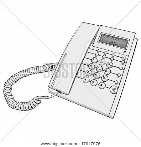 illustration of isolated phone