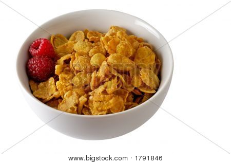 Cereal Bowl With Raspberries