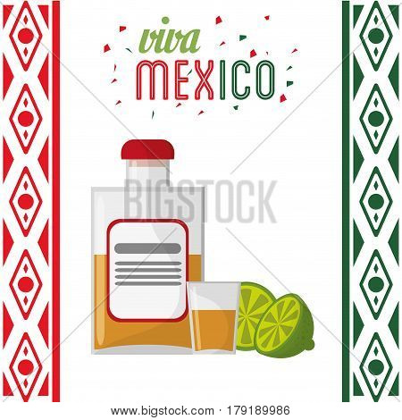 viva mexico invitation party tequila vector illustration eps 10