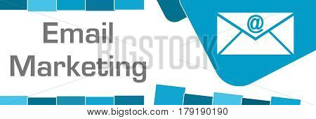Email marketing concept image with text and related symbol.