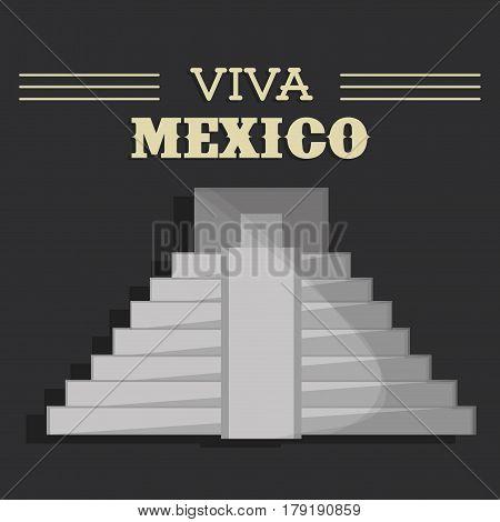 viva mexico festival heritage vector illustration eps 10