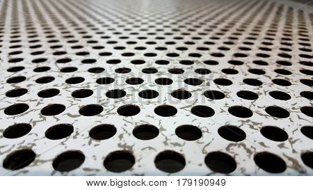 Perforated Airflow Panel or server room and background .