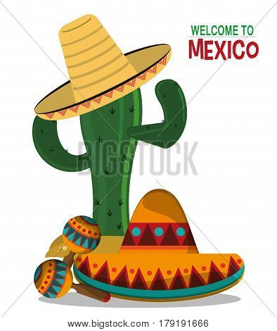 viva mexico celebration party poster vector illustration eps 10